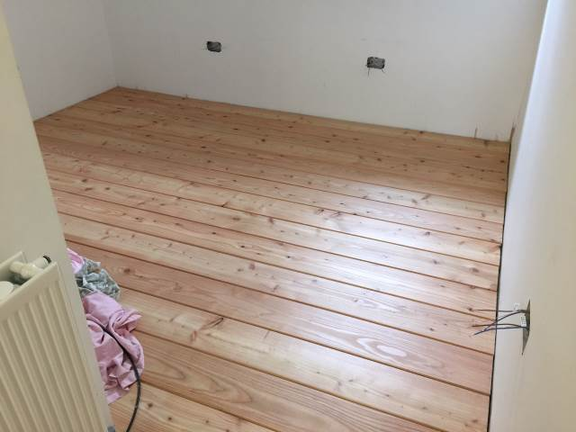 40 Larch Floor Boards by Co2 Timber