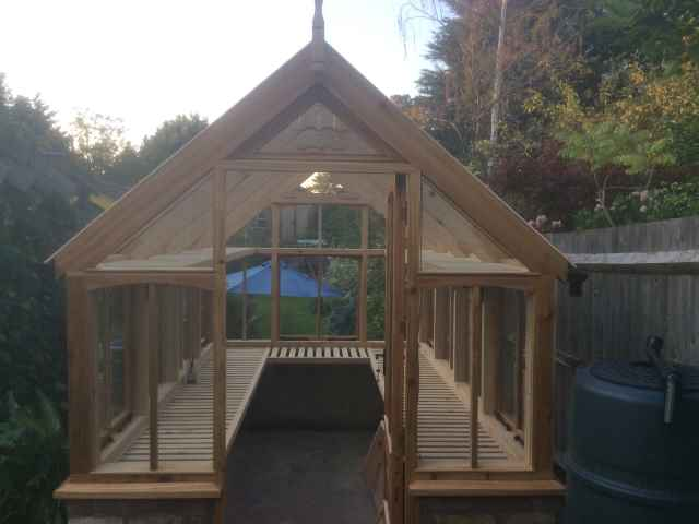 Co2 Timber cedar Greenhouse 93