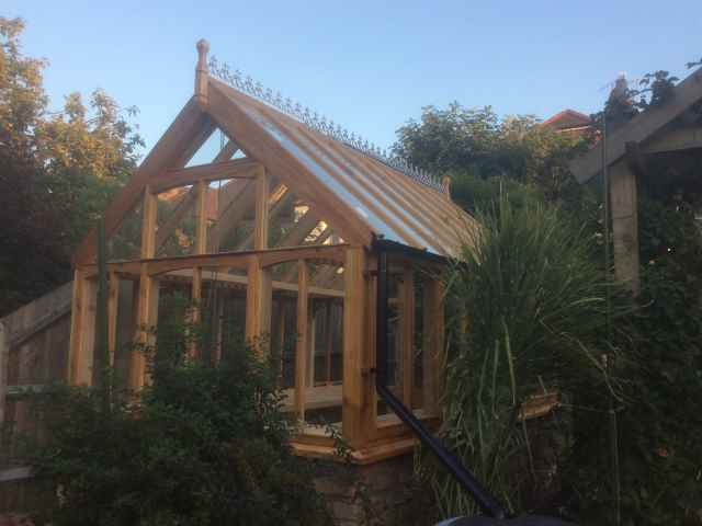 Co2 Timber cedar greenhouse 94