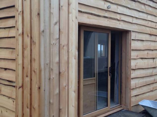 co2 timber Waney edge cedar cladding