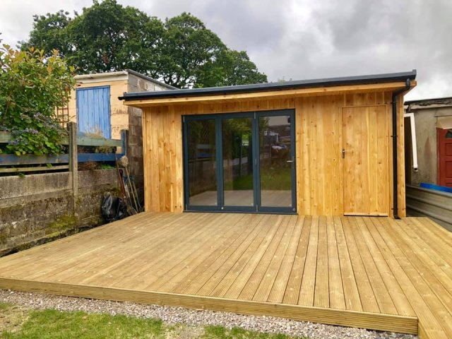 Co2 Timber Cedar Cladding man cave 130